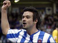 Adam Boyd scored twice at Victoria Park to take his tally to 29 for the season
