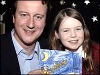David Cameron and a schoolgirl