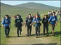 Youngsters taking part in the Ten Tors challenge