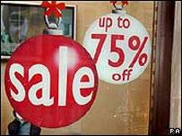 Shop sales sign