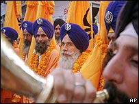 Sikhs at the Golden Temple