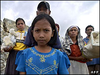 Acehnese refugees from the tsunami