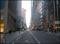 Unusually empty New York streets. Picture sent in by Per Jirstrand