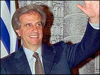 Tabare Vazquez, Uruguay's first left wing leader