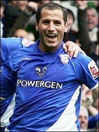 Ipswich striker Shefqi Kuqi celebrates his goal