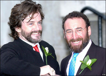 Sir Anthony Sher with partner Greg Doran