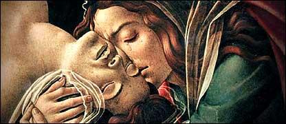 María Magdalena junto a Jesús (Gentileza: Editorial Aguilar)