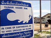 Tsunami information poster in Thailand