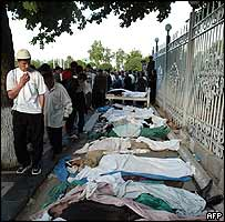 Bodies laid out in Andijan