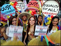 Gay and lesbian march for Human Rights