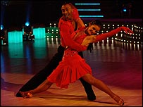 Colin Jackson and Erin Boag on the BBC's Strictly Come Dancing