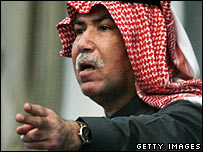 Barzan al-Tikriti in court on Wednesday