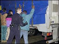 Immigration checks at Calais