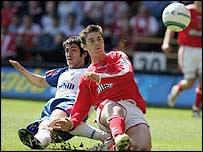 Bryan Hughes put Charlton in front