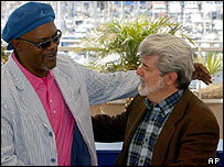Samuel L Jackson and George Lucas