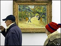 A work by Dutch artist Vincent Van Gogh in a museum