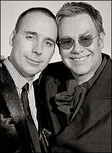 Sir Elton John and David Furnish by Sam Taylor-Wood
