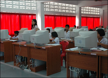 Computer room at Baan Nam Khem school