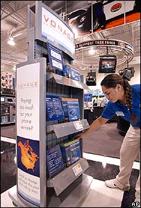 Vonage Voip display in Best Buy