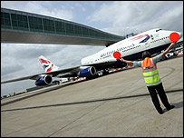 Passenger footbridge at Gatwick Airport (from press office)