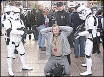 Darren Waters (c) with Stormtroopers