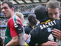 Martin Johnson and Joe Worsley