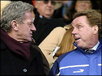 Portsmouth chairman Milan Mandaric (left) with manager Harry Redknapp