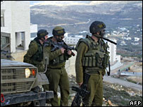 Israeli soldiers in Nablus after the raid