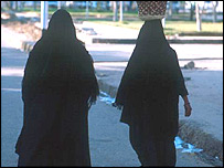 Arab women in Luxor, Egypt