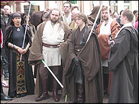 Star Wars fans at marathon screening