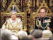 The Queen and Prince Philip at 2004's state opening of Parliament
