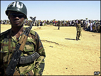 An African Union peacekeeper