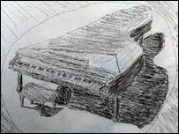 Dibujo del piano