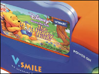 Close-up of game in VTech Smile console, VTech