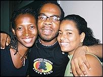 George Oliveira, Karina de Souza and friend
