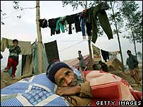 A tent camp in Muzaffarabad, Pakistan