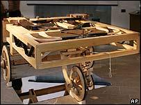 Veh�culo dise�ado por Leonardo da Vinci