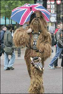 Star Wars fan dressed as Chewbacca