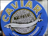 File photograph of a tin of caviar