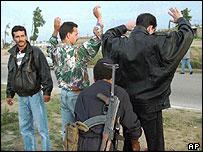 Algerian police checkpoint