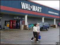 File photograph of a Wal-Mart store