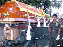 Funeral of soldier in Sri Lanka