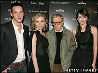 Jonathan Rhys Meyers, Scarlett Johansson, Woody Allen and Emily Mortimer
