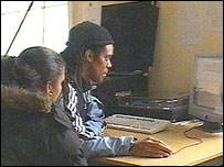 Teenagers compiling a radio programme