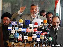 A press conference called by Iraqi political parties concerned that electoral fraud took place