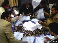 Electoral workers in Iraq