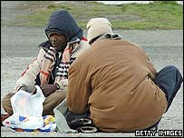 Illegal immigrants in Calais, France