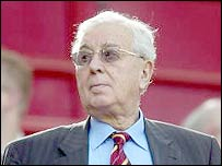 Aston Villa chairman Doug Ellis