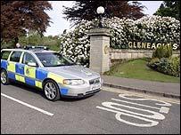 Police car outside the Gleneagles Hotel