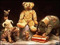 Los animales de peluche que inspiraron la obra de Milne.